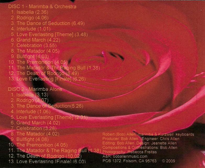 Image of Spanish Romance CD Rose Art and Song List